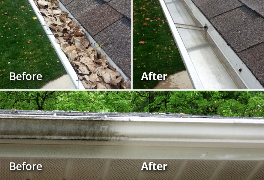 Interior And Exterior Gutter Cleaning