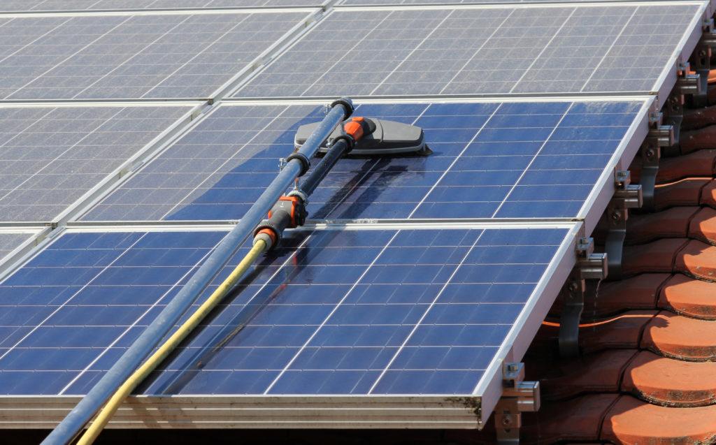 Washing A Solar Panel