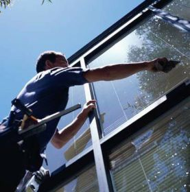 Hand Cleaning Windows